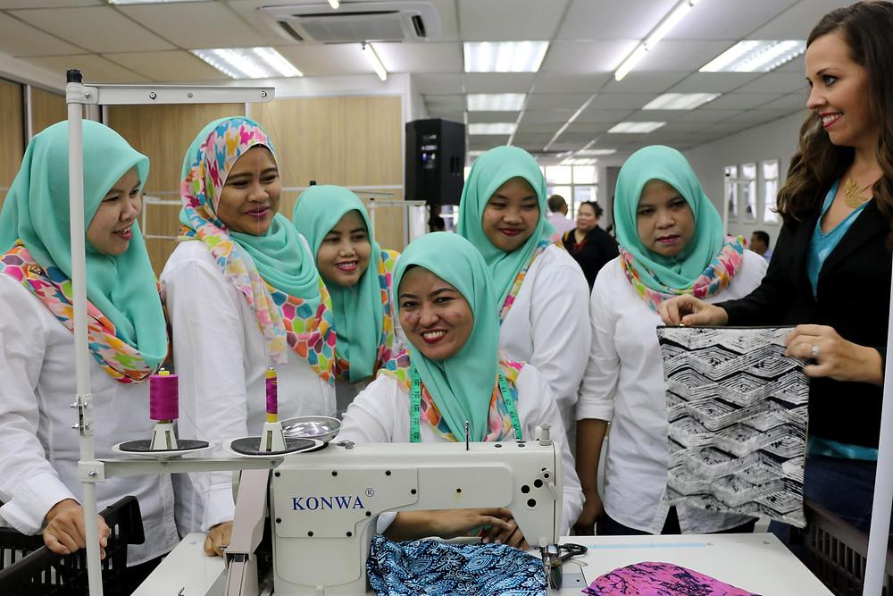 Seamstresses working at Batik Boutique