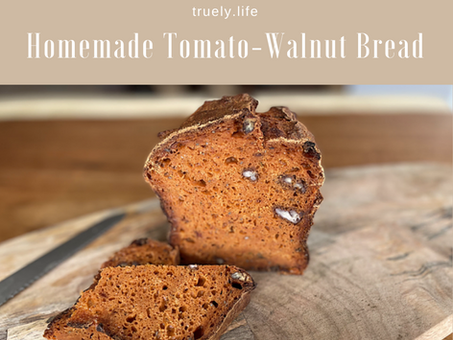 Homemade Tomato-Walnut Bread