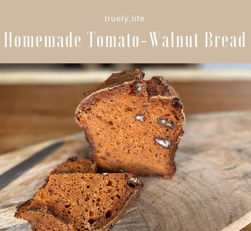 Homemade Tomato-Walnut Bread