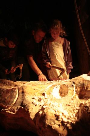 Atelier participatif de sculpture sur bois