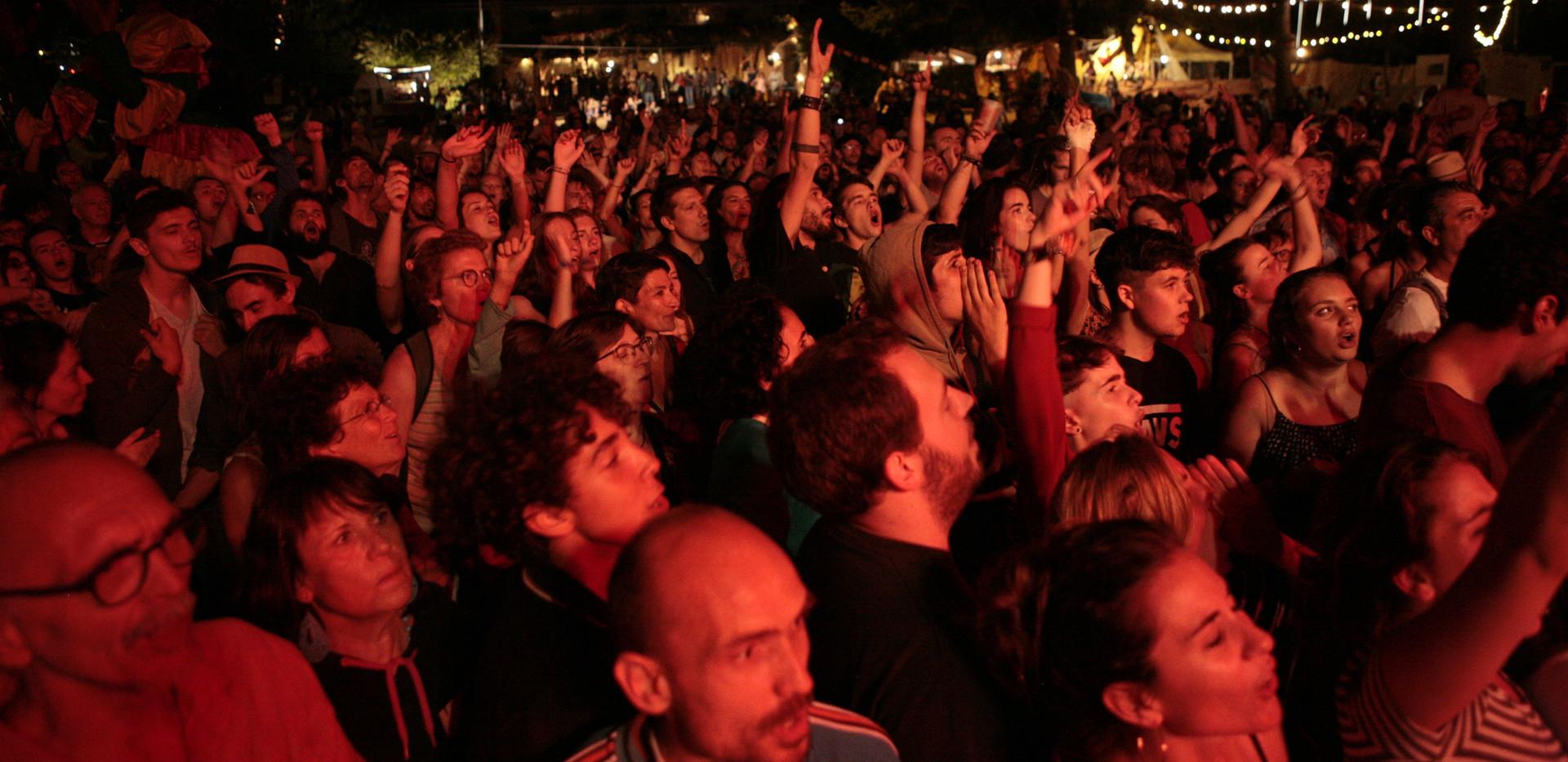 Le public sur le concert de HK