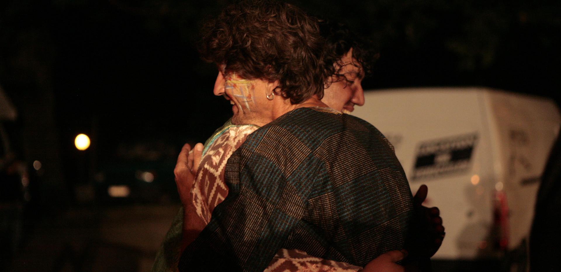 Shahzad à la descente de scène avec Antoine