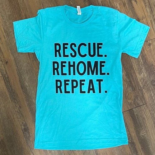 Rescue. Rehome. Repeat. unisex tee