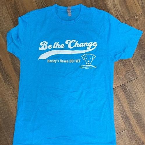 Turquoise 'Be the Change' unisex tee