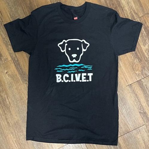 Black BCI VET logo unisex tee