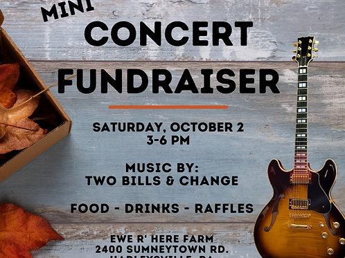 Mini Concert Fundraiser - Saturday, October 2