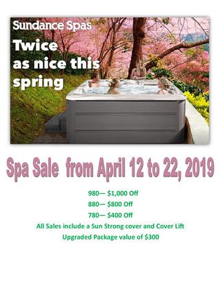 Spring Spa Sale