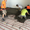 What is an insulated floating screed floor?