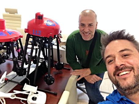 Garacopter Visita a AXEGA Axencia Galega de Emerxencias en Santiago