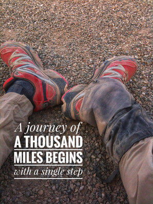 In search of purpose: A journey of a thousand miles begins with a single step