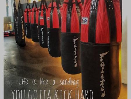 Life is like a sandbag ...