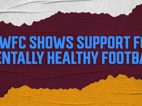 Bradford City WFC shows support for 'Mentally Healthy Football'