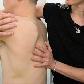 Pain between the shoulders? Could be rib pain.