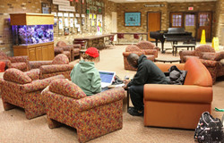 Students Collaborating in the Cyber Cafe