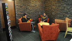 Students Collaborating in the Lounge at Ritter Library