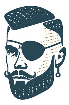 visla graphic - sfdb barber - logo brand