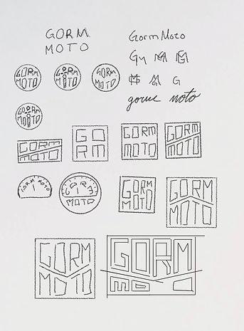 visla graphic - gorm moto - logo sketche