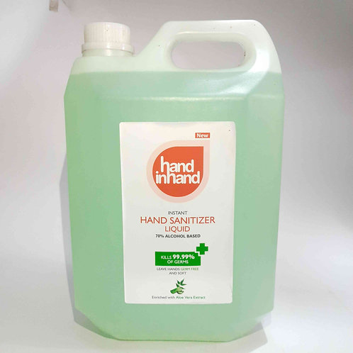 Hand sanitizer liquid 70% alcohol 5L