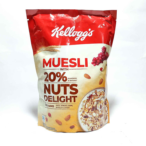 Kellogg's muesli 20% nuts delight 500g
