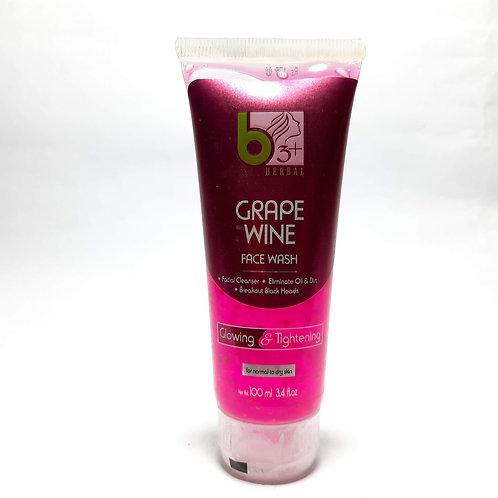 b3+ herbal grape wine facewash