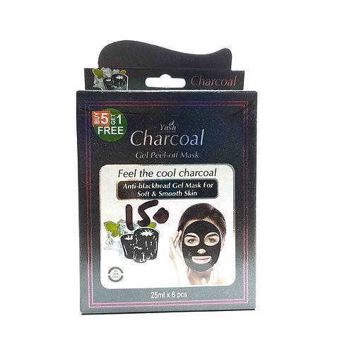 Yash charcoal peel off mask (6 pcs)