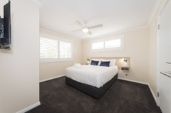 Large cabin bedroom with ensuite