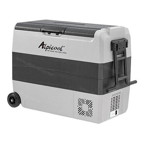 Alpicool ET60 (60L). Двухкамерный 12/24/110/220V.