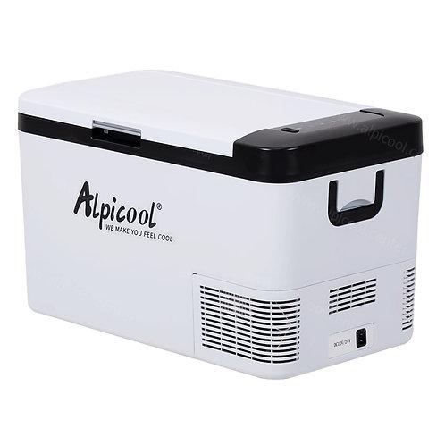 Alpicool K25 (25L). Двухкамерный 12/24/110/220V.