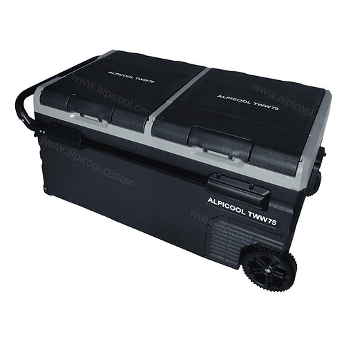 Alpicool TWW75 (75L). Двухкамерный 12/24/110/220V.