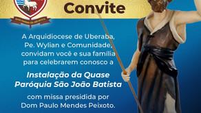 Arcebispo Dom Paulo celebrará a instalação da Quase Paróquia São João Batista em Uberaba