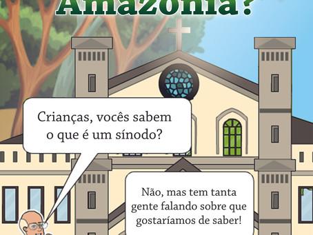 """História em quadrinhos: """"Papa Francisco em: o que é o Sínodo para a Amazônia?"""""""