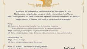 Paróquia São José Operário, em Ponte Alta, celebra Jubileu de Ouro