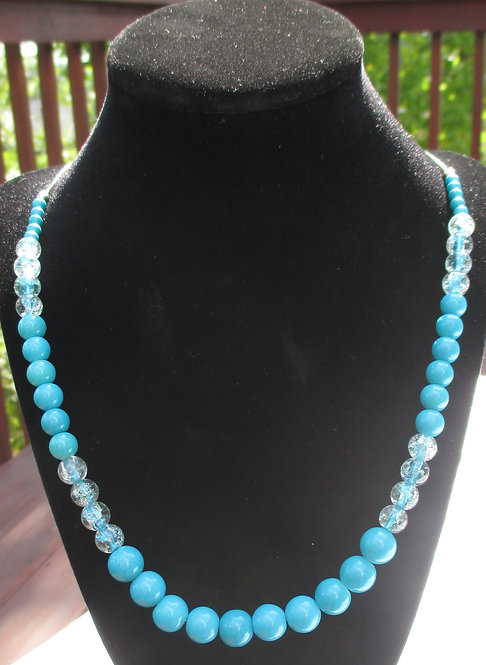Turquoise Crackle Necklace