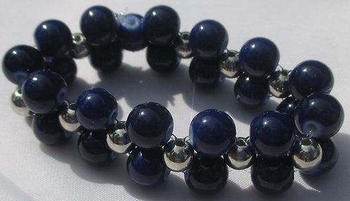 Purple Wide Stretch Bracelet