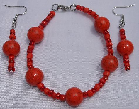 Orange Marbles Set