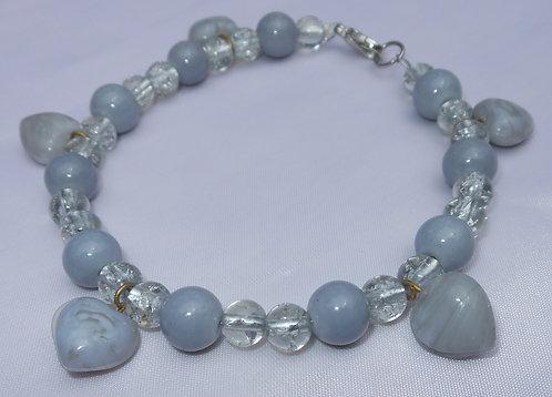 Grey Hearts Charm Bracelet