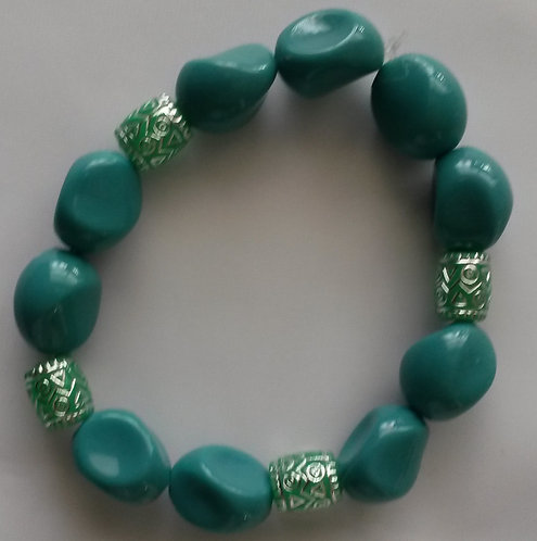 Turquoise Stretch Nugget Bracelet