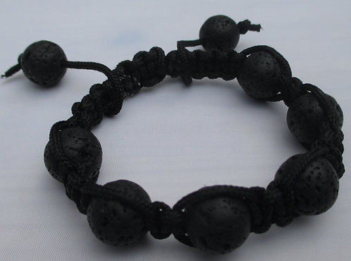 Lava Bead Cord Bracelet