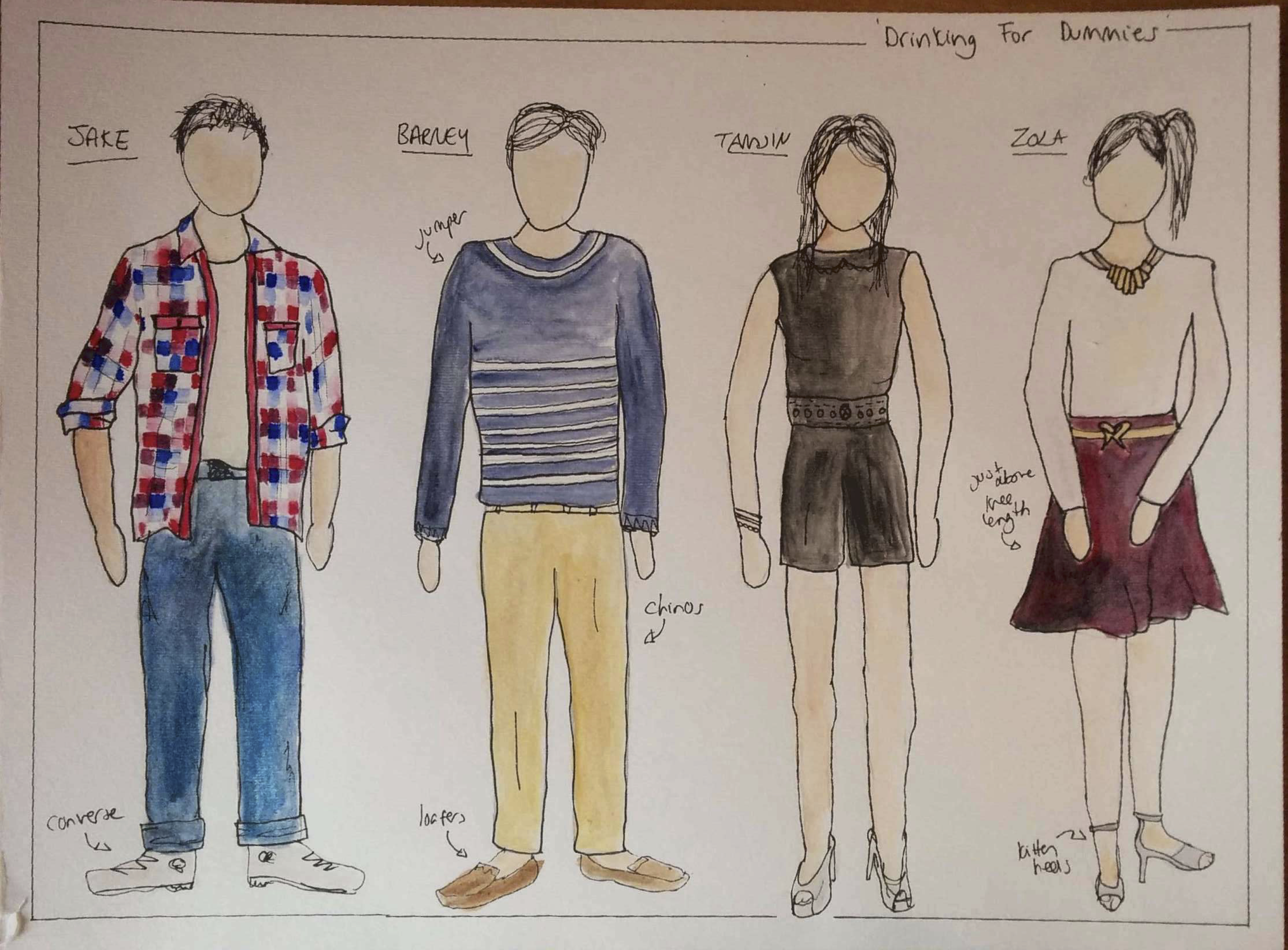 Drinking for Dummies Costume Design