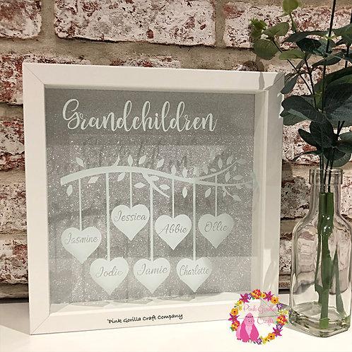 Grandparent family tree / Grandparents Gift / Personalised Frame for grandparent