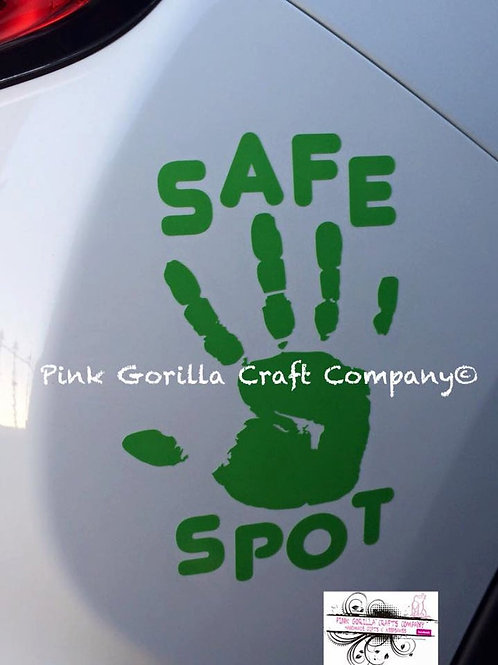 Safe Spot Car Decal, Car Safety Sticker, Car Sticker, Child Car Sign