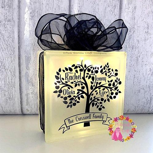 Family Tree Glass Light Block