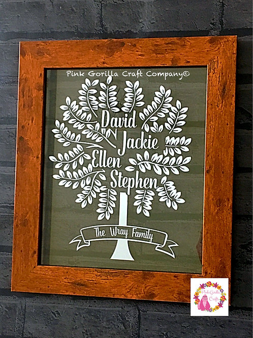 Family Tree, Floating Frame, Personalised Gift