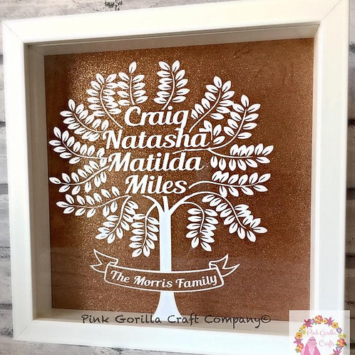 Family Tree, Personalised Family Frame, Wedding Gift, New home Gift, Family Tree