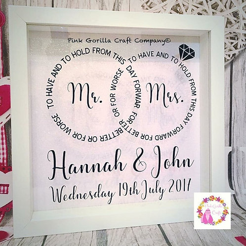 Wedding gift, personalised wedding present, mr and mrs gift