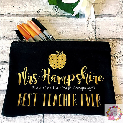 Teacher Personalised Pencil Case, End of Term Gift