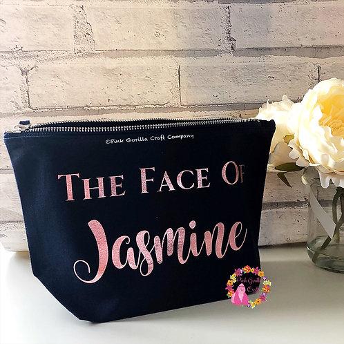 Personalised MakeUp Bag, Cosmetic Bag , Bride make up bag, Bridesmaid Gift