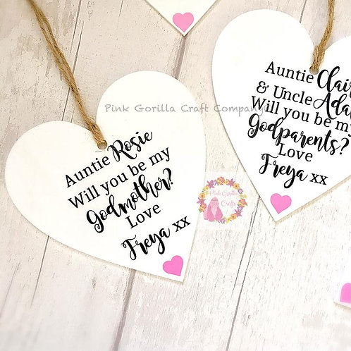 Godparent plaque, Will you be my Godmother, Godparent gift, Godparent proposal,