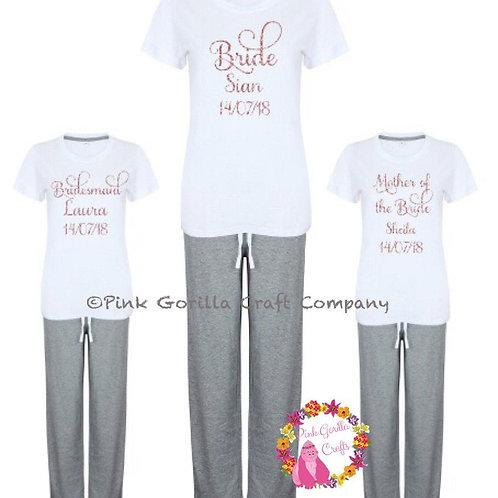 Personalised Bridal Pyjamas