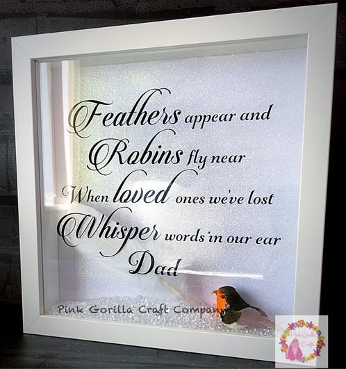 Robin Remembrance Memorial Frame